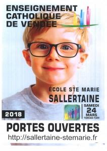 Portes ouvertes école Ste Marie @ Ecole privée Ste Marie | Sallertaine | Pays de la Loire | France